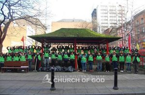 World Mission Society Church of God Members Cleanup China Town in UK