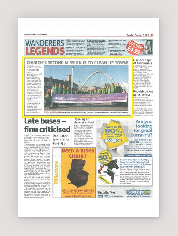 WMSCOG Clean Up - The Bolton News - Feb 7, 2012